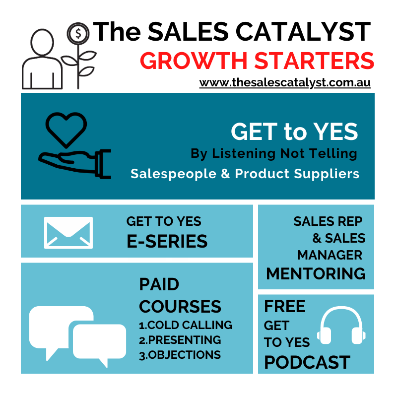 Get to Yes, with The SALES CATALYST